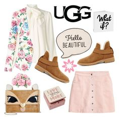"""The New Classics With UGG: Contest Entry"" by alinepinkskirt ❤ liked on Polyvore featuring Somerset by Alice Temperley, H&M, UGG, Betsey Johnson, Primitives By Kathy, New Look and ugg"