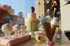 #albabasweets #icecream #cones #display