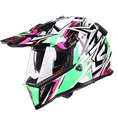 LS2 PIONEER V2 FULL FACE OFF-ROAD HELMETS WITH SUN SHIELD – HelmZone.com