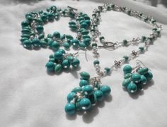 Turquoise set from juta ehted - my jewelry shop by DaWanda.com