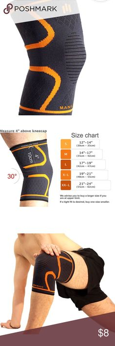 Knee Support Compression Sleeve Brace DOUBLE LAYER ANTI-SLIP SILICONE: stable compression during sports, holds on to your leg thanks to gel grip so you won't have to adjust it during activities. SEE OUR SIZE CHART: designed to fit different sizes for sporty men and women, see the size chart for the best fit PAIN RELIEF: helps with arthritis, runners knee, reduces muscle soreness, stiffness IMPROVED PERFORMANCE: Gives more stability for the knee and mental confidence to push yourself more…