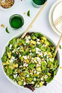 The Greenest Chopped Salad