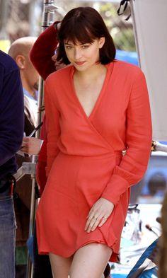 Dakota Johnson on How To Be Single set in NY - 21 April 2015