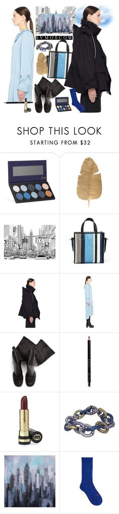 """SVMOSCOW 58. (NEW !!)"" by carola-corana ❤ liked on Polyvore featuring Luxie, Balenciaga, Rick Owens, Gucci, Plukka and Vetements"