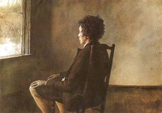 Up in the Studio Andrew Wyeth -- American painter (born 1917) 1965 Metropolitan Museum of Art, New York Drybrush on paper