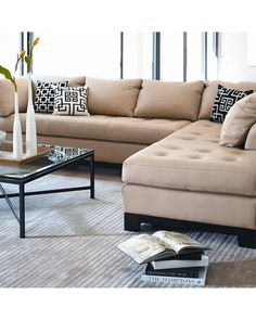 Furniture Sectionals amp Hampton Sectional Pottery Barn