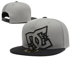DC Snapback Hats Gray Black|only US$6.00 - follow me to pick up couopons.