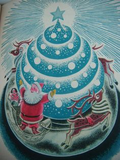 """Christmas Magic"" by James Tippet, illustrated by Helen Sewell, 1944."