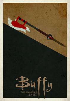 Buffy Art Print - love the minimalist style!