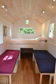 ledge-style-caravan | guest space intended to sleep four. Built by Hornby Island Caravans.