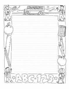 Free Writing Paper Template 6 Writing Paper Templates Word Excel Pdf Templates, Printable Handwriting Paper New Calendar Template Site Print Kindergarten Writing Paper Handwriting Paper Template To, Borders For Paper, Borders And Frames, Coloring Books, Coloring Pages, School Border, Doodle Frames, Page Borders, Writing Worksheets, Writing Paper