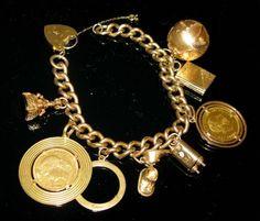 GOLD CHARM BRACELET: Gold Coins: Austrian & Swiss - by E. M. Wallace Auctions & Appraisals