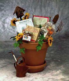 SUNFLOWERS FOR YOU FLOWER POT GIFT BASKET~84042 #GIFTBASKET #GARDENINGGIFTBASKETS