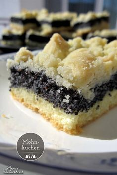 "German Poppy Seed Cake with Streusel ~ "" Mohnkuchen"" Baking Recipes, Cake Recipes, Dessert Recipes, Bread Recipes, Snacks Recipes, Pastry Recipes, Baking Tips, Food Cakes, Cupcake Cakes"