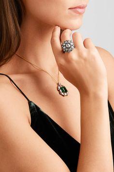 Amrapali | Ring aus 14 Karat Gold und Sterlingsilber mit Diamanten | NET-A-PORTER.COM