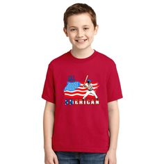 All American BaseBall Player Youth T-shirt