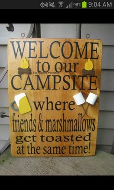 Camp fire diy sign