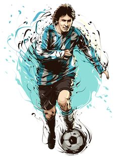 Recent Works - 2010 by Cristiano Siqueira, via Behance Messi - fooball player Messi Argentina, Argentina Soccer, Soccer Art, Football Art, Sports Art, Kids Sports, Fifa, Leonel Messi, Sport Photography
