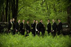 A wedding in DuBois tuxedos. Photo courtesy of Adam LeSage Photography LLC.  www.DuBoisFW.com