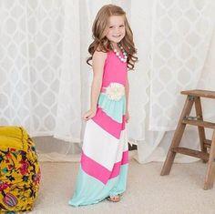 2016 Summer New Girl Dress Family Matching Outfits Mum And Kids Holiday Dress Sleeveless Beach Sundress 221