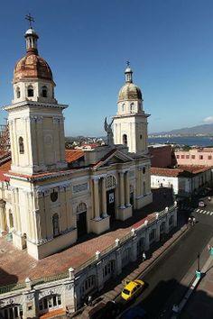 A view of the cathedral in Santiago de Cuba, Cuba.