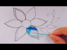 hand embroidery modern flower embroidery,easy flower stitch Dear Viewer, Hope you are enjoying my video. This video about: hand embroidery modern flower embr. Hand Embroidery Projects, Hand Embroidery Tutorial, Embroidery Flowers Pattern, Hand Embroidery Stitches, Silk Ribbon Embroidery, Hand Embroidery Designs, Embroidery Patterns, Art Patterns, Embroidered Flowers