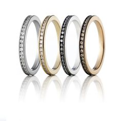 Eternity Ringe #diamonds #forever #christinehvelplund #hvelplund #danish #design #jewellery #gold