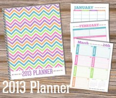 INSTANT DOWNLOAD 2013 PlannerPDF Printable by HappyOrganizedLife, $10.00