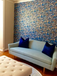 Foret (Midnight) accent wall, love!