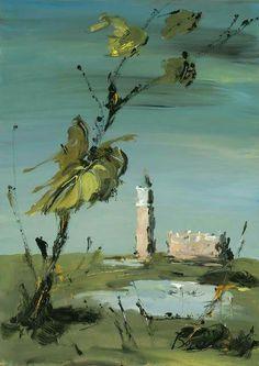 Landscape in the Veneto  tempera su carta  Dimitri Boucher