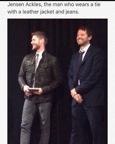 And still manages to look damn fine<<< look at misha's smile! He is so adorable!!!