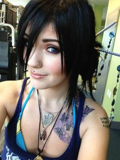 You can find Leda muir and more on our website. Cute Emo Girls, Hot Goth Girls, Gothic Girls, Leda Muir, Hot Tattoo Girls, Girl Tattoos, Emo Scene Hair, Estilo Rock, French Twist Hair