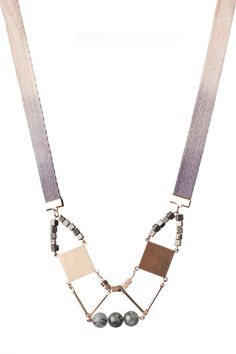 Shield Necklace by Cursive Design