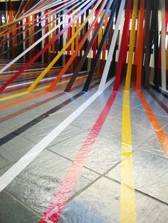 Duct tape installation by Rebecca Ward