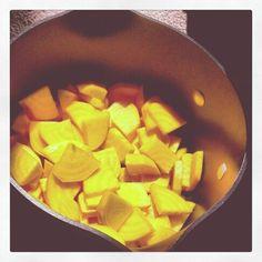 Pot 'o gold. Golden beets with feta crumbles and fresh tarragon