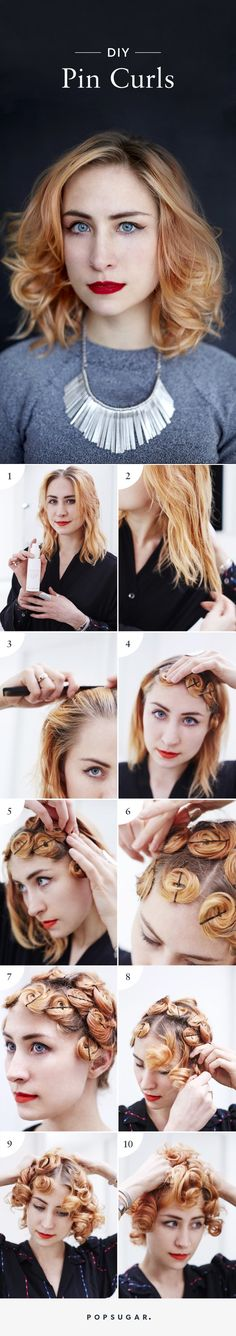 Pin   This Easy DIY Proves Anyone Can Do Pin Curls Like a Pro   POPSUGAR Beauty Photo 12
