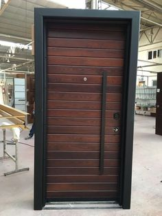 thermo wood door , thermo wood celik kapi