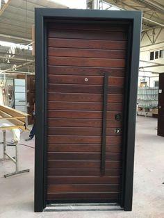 Main Door Steel Interior Design Ideas For 2019 Main Entrance Door Design, Door Gate Design, Door Design Interior, Garage Door Design, Entrance Doors, Front Doors, Porte Design, Front Door Hardware, Modern Front Door