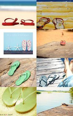 """Flip your Flops"" Etsy Treasury, featuring Beach Cottage Life... SWEET! --Pinned with TreasuryPin.com  @ https://www.etsy.com/treasury/MjgxNjU0MjN8MjcyNDkwNTA4OA/flip-your-flops"