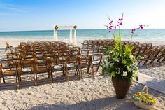 A Sarasota beach wedding! Sarasota wedding photographers can be counted on to capture every moment of weddings like this, from beginning to end.