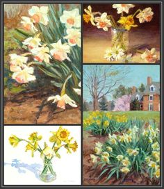 Daffodil Season Collage - Original Fine Art for Sale - © Kim Stenberg
