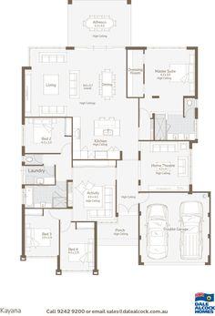The new hampton four bed hampton style home design for Dale alcock home designs