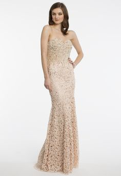 Pearl and Lace Strapless Dress from Camille La Vie and Group USA