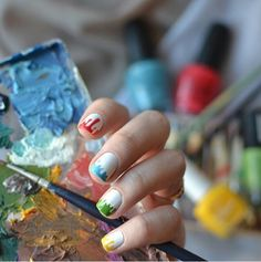 Creative ideas and care tips for gel nails summer 2019 - Nail Designs Butterfly Species, Nail Stencils, Rainbow Nails, How To Get Warm, I Feel Pretty, Nagel Gel, Summer Nails, You Nailed It, Gel Nails