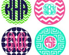 Keychain Circle Monogram instant download cut file for Silhouette machine cutting (monogram fonts sold separately)