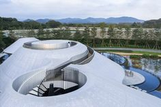 wutopia lab completes the 'aluminum mountain' in guangdong, china