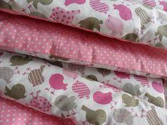 Babydecken - Krabbeldecke ♥Rosa Piepmatz♥ 100x100 kuschelweich - ein Designerstück von Odoretta bei DaWanda