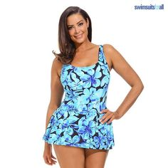 Princess Seam Torso-Slimming Swimdress - Extended Sizes | nomorerack.com