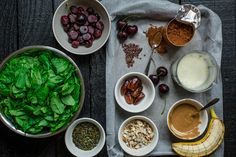 Chocolate Cherry and Brazil Nut Smoothie Bowl Plant Based Diet, Plant Based Recipes, Veggie Recipes, Veggie Meals, Vegetarian Options, Vegetarian Recipes, Healthy Recipes, Healthy Foods, Free Recipes