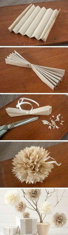 Flores manuales de papel